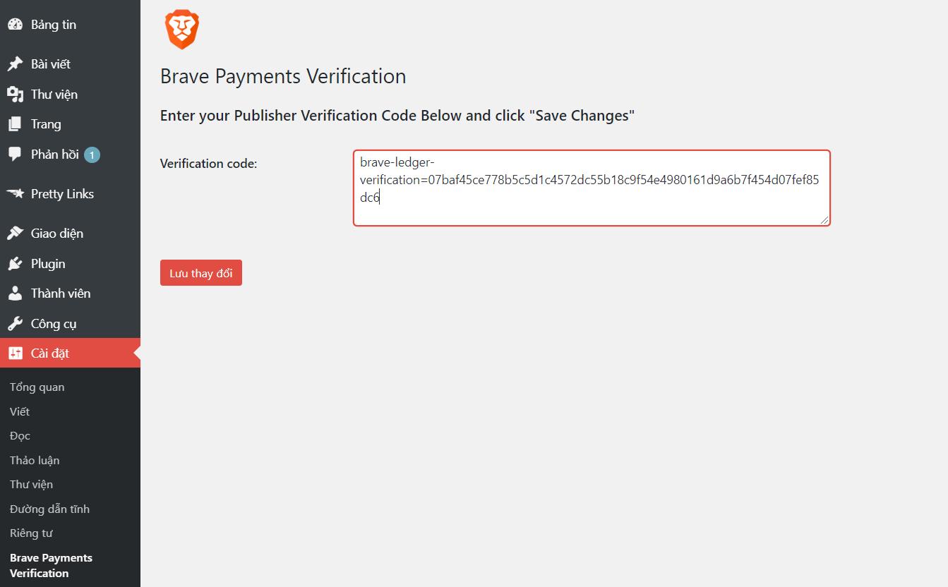 Brave Payments Verification