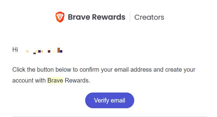 Verify Email Brave