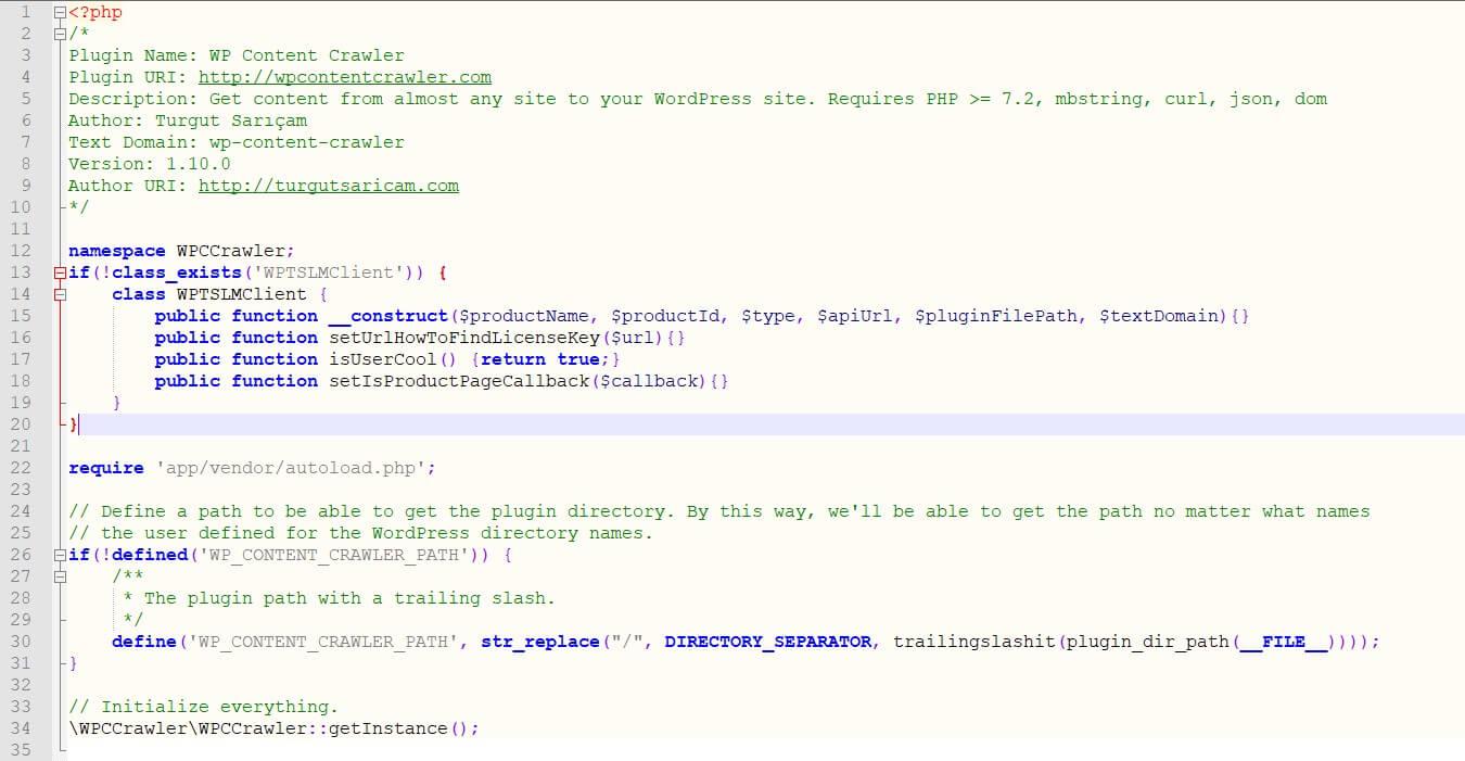 Activate WP Content Crawler Plugin