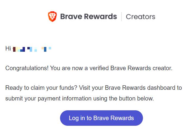 tieuca.me is now verified on Brave Rewards