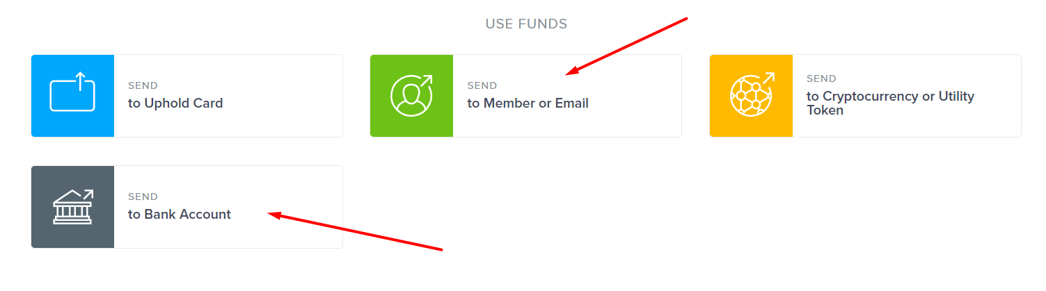 Uphold - USE FUNDS