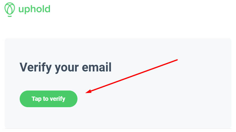 Uphold - Verify your email